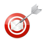 Target mail illustration design. Over a white background Stock Photo