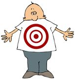 Target Man. This illustration depicts a man with a target painted on his shirt Stock Images