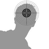 Target on man head illustration Stock Image