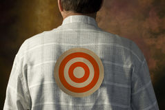 Target on man's back Royalty Free Stock Photo