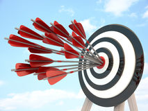 Target and many arrow Stock Image