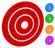 Target mark bullseye / Concentric circles, rings icon Royalty Free Stock Photography