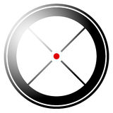 Target mark, crosshair, reticle icon with red dot Royalty Free Stock Images