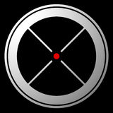 Target mark, crosshair, reticle icon with red dot Stock Image