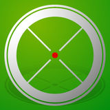 Target mark, crosshair, reticle icon with red dot Royalty Free Stock Photo