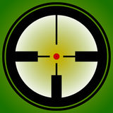 Target mark, reticle, crosshair icon for focus, accuracy, target Royalty Free Stock Photo