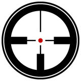 Target mark, reticle, crosshair icon for focus, accuracy, target Royalty Free Stock Image