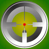 Target mark, reticle, crosshair icon for focus, accuracy, target Royalty Free Stock Photos