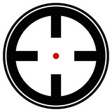Target mark, reticle, crosshair icon for focus, accuracy, target Stock Image