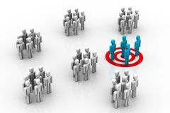 Target Market. 3d illustration of Target Market in white background Stock Photography