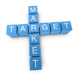 Target market 3D crossword on white background Royalty Free Stock Photo