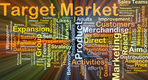 Target market background concept glowing Royalty Free Stock Image