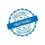 Target market stamp illustration. Target market blue stamp seal illustration design Stock Photo