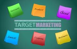 Target market board. Illustration design on a blackboard Royalty Free Stock Photography