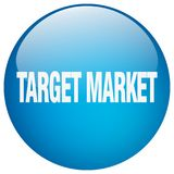 Target market button. Target market round button isolated on white background.  target market Stock Images