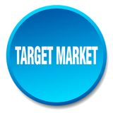 Target market button. Target market round button isolated on white background.  target market Stock Image