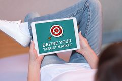 Target market concept on a tablet Stock Photography