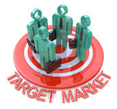 Target market. marketing concept Royalty Free Stock Images