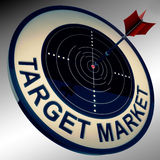 Target Market Means Aiming Strategy At Consumers Royalty Free Stock Image