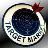 Target Market Means Targeting Customers Direct Royalty Free Stock Photography