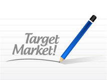 Target market message illustration design. Over a white background Stock Photos