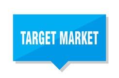 Target market price tag. Target market blue square price tag royalty free illustration