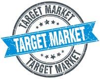 Target market stamp. Target market round grunge vintage ribbon stamp. target market royalty free illustration