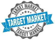 Target market seal. stamp. Target market round seal isolated on white background royalty free illustration