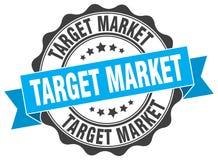 Target market seal. stamp. Target market round seal isolated on white background. target market stock illustration