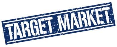 Target market stamp. Target market square grunge sign isolated on white. target market vector illustration