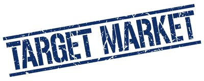Target market stamp. Target market square grunge sign isolated on white. target market royalty free illustration