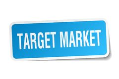 Target market sticker. Target market square sticker isolated on white background. target market Royalty Free Stock Photography