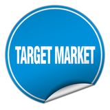 Target market sticker. Target market round sticker isolated on wite background. target market Stock Images