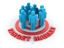 Target Market Royalty Free Stock Photos