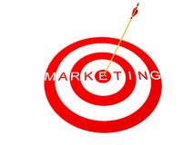 Target Marketing. Concept in 3D Royalty Free Stock Photo