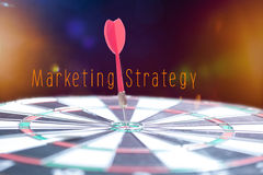 Target Marketing concept with darts arrow Royalty Free Stock Images