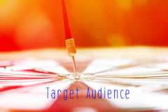 Target Marketing concept with darts arrow Stock Photo