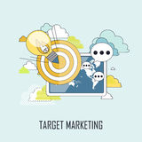 Target marketing concept Royalty Free Stock Images