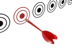Target marketing concept. Target dart with arrow. 3D rendered illustration.  Royalty Free Stock Photo