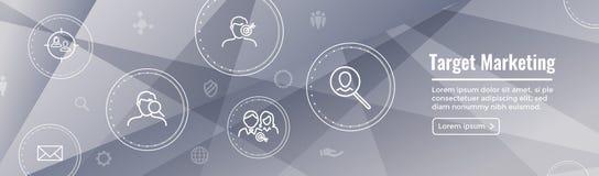 Target Marketing Icon Set and Web Header Banner. Target Marketing Icon Set - Web Header Banner