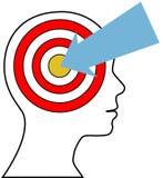 Target Marketing person arrow customer. Business sales lead arrow finds targeted marketing target customer royalty free illustration