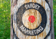 Target Marketing - target on tree with text Stock Photography
