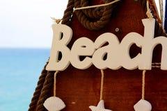 target1163_0_ markiera plażowy kierunkowy znak Obrazy Stock