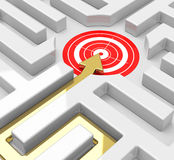 Target in a maze Stock Images