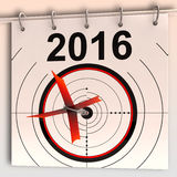 2016 Target Means Future Goal Projection. 2016 Target Meaning Future Growth Goal Projection Stock Photo