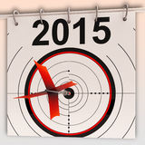 2015 Target Means Future Goal Projection Stock Image