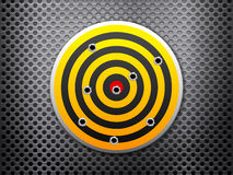 Target metal background Royalty Free Stock Photos