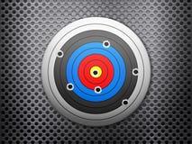 Target metal background Stock Image