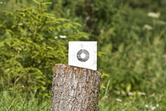 The target is in the middle of the forest Stock Photos