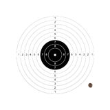 Target missed. Sport and business concept royalty free stock photos